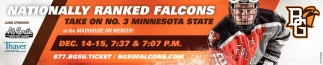 Nationally Ranked Falcons Take on No. 3 Minnesota State