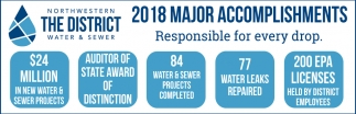 2018 Major Accomplishments