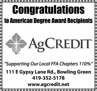 Congratulations to American Degree Award Recipients