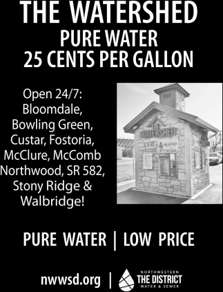 The Watershed Pure Water 25 cents per gallon