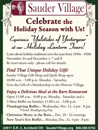 Celebrate the Holiday Season with Us!