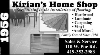 Hardwood, Laminate, Carpeting, Vinyl