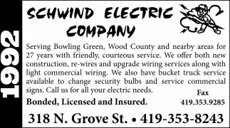 Call us for all your electric needs
