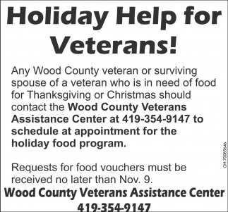 Holiday Help for Veterans