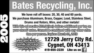 We pick up junk/scrap vehicles