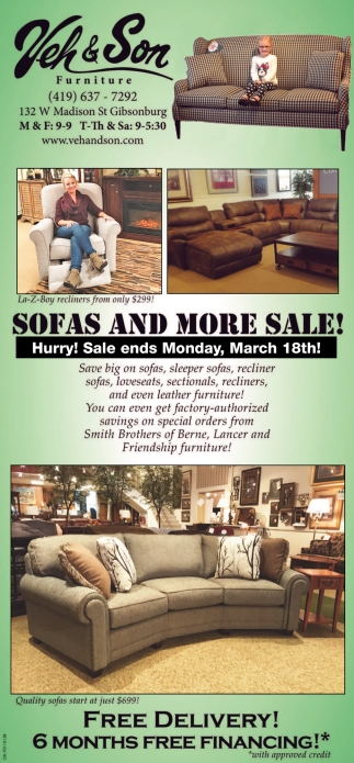 Sofas and more sale!