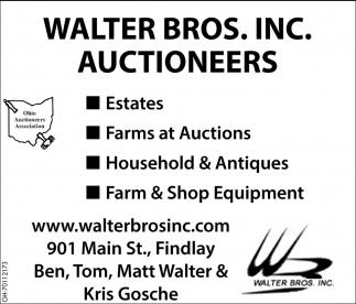 Estates, Farms at Auctions, Household & Antiques, Farm & Shop Equipment