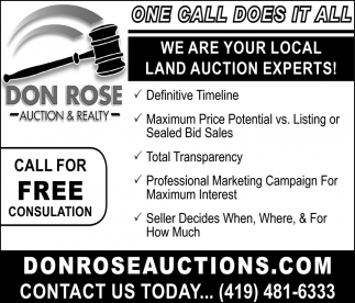 We are your local land auction experts!