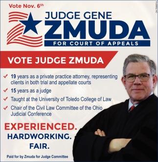 Judge Gene Zmuda for Court of Appeals