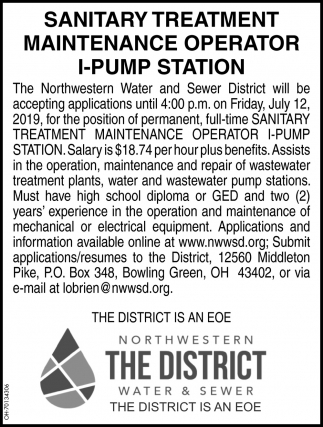 Sanitary Treatment Maintenance Operator