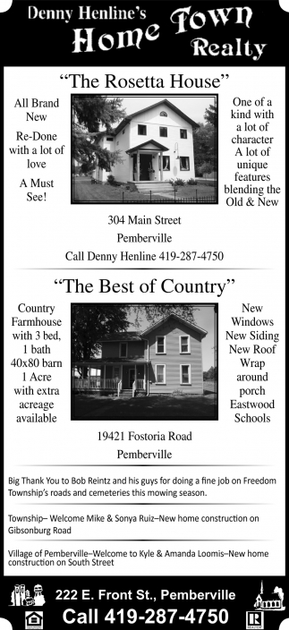 The Rosetta House, The Best of County
