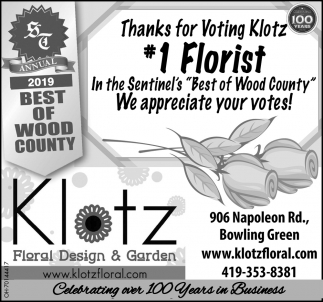 Thanks for Voting Klotz 1 Florist