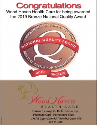 2019 Bronze National Quality Award