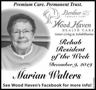 Rehab Resident of the Week
