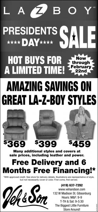 La-Z-Boy Presidents Sale
