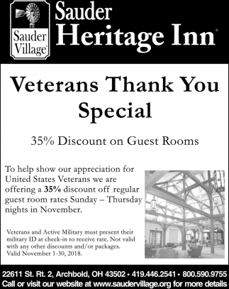 Veterans Thank You Special