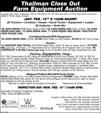 Thallman Close Out Farm Equipment Auction