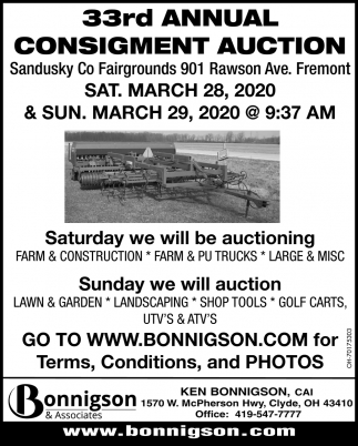 33rd Annual Consigment Auction
