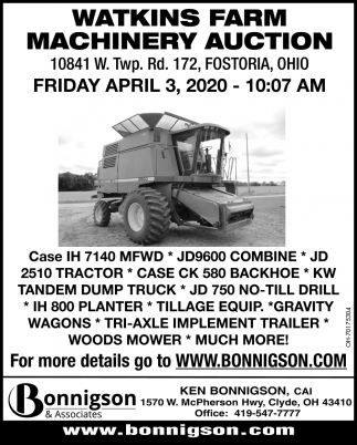 Watkins Farm Machinery Auction