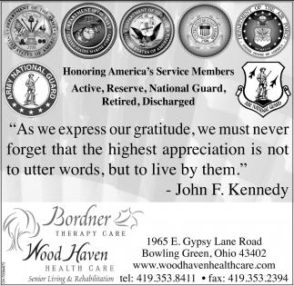 Honoring America's Service Members
